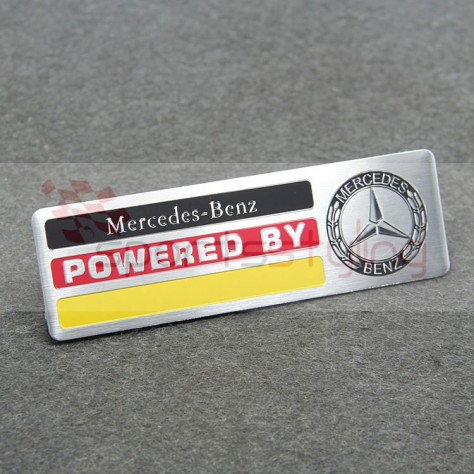 Powered by Mercedes badge