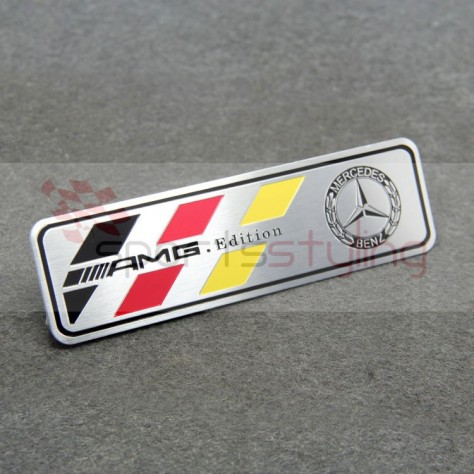 AMG Mercedes Badge in German Colours