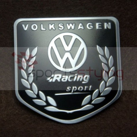 Volkswagen Racing 'Shield' Badge in Black