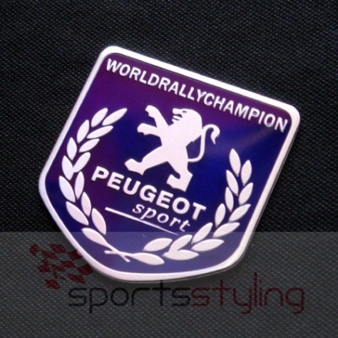 Peugeot Sport 'World Rally Shield' Badge in Blue