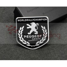 Peugeot Sport 'World Rally Shield' Badge in Black